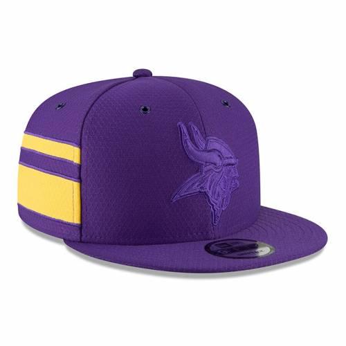 ニューエラ NEW ERA ミネソタ バイキングス サイドライン ラッシュ スナップバック バッグ 紫 パープル キャップ 帽子 メンズキャップ メンズ 【 Minnesota Vikings 2018 Nfl Sideline Color Rush Official
