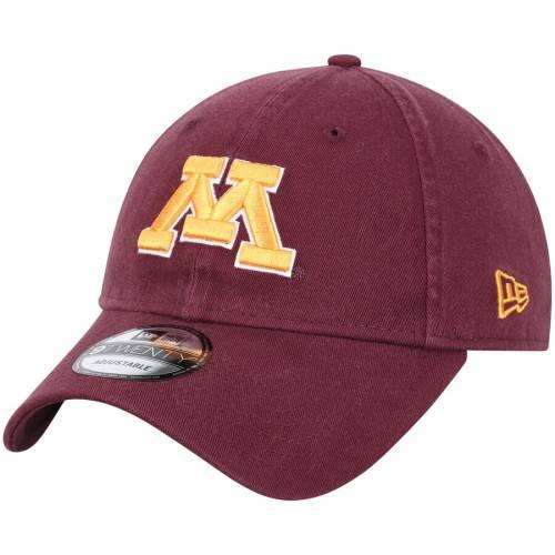 ニューエラ NEW ERA ミネソタ チーム コア バッグ キャップ 帽子 メンズキャップ メンズ 【 Minnesota Golden Gophers Team Core 9twenty Adjustable Hat - Maroon 】 Maroon
