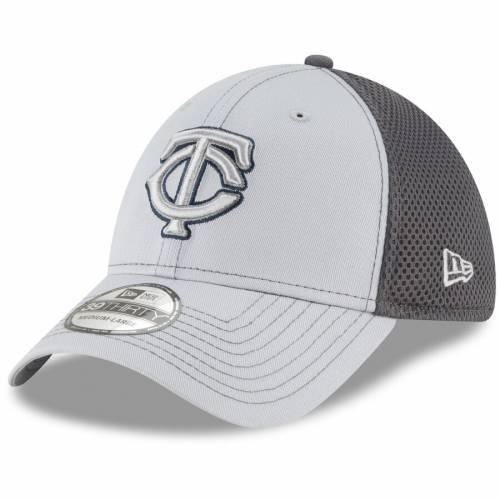 ニューエラ NEW ERA ミネソタ ツインズ ネオ 灰色 グレー グレイ バッグ キャップ 帽子 メンズキャップ メンズ 【 Minnesota Twins Grayed Out Neo 39thirty Flex Hat - Gray 】 Gray