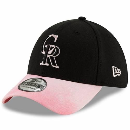 ニューエラ NEW ERA コロラド ロッキーズ バッグ キャップ 帽子 メンズキャップ メンズ 【 Colorado Rockies 2019 Mothers Day 39thirty Flex Hat - Black/pink 】 Black/pink