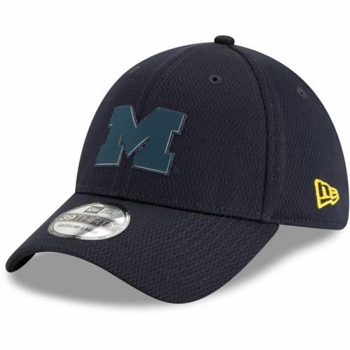 ニューエラ NEW ERA ミシガン 紺 ネイビー バッグ キャップ 帽子 メンズキャップ メンズ 【 Michigan Wolverines Mold 39thirty Flex Hat - Navy 】 Navy