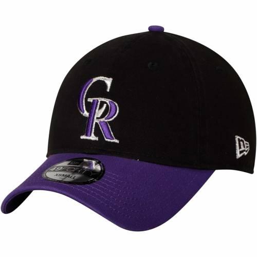 ニューエラ NEW ERA コロラド ロッキーズ コア バッグ キャップ 帽子 メンズキャップ メンズ 【 Colorado Rockies Core Fit Replica 49forty Fitted Hat - Black/purple 】 Black/purple