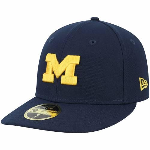 ニューエラ NEW ERA ミシガン 紺 ネイビー バッグ キャップ 帽子 メンズキャップ メンズ 【 Michigan Wolverines Basic Low Profile 59fifty Fitted Hat - Navy 】 Navy