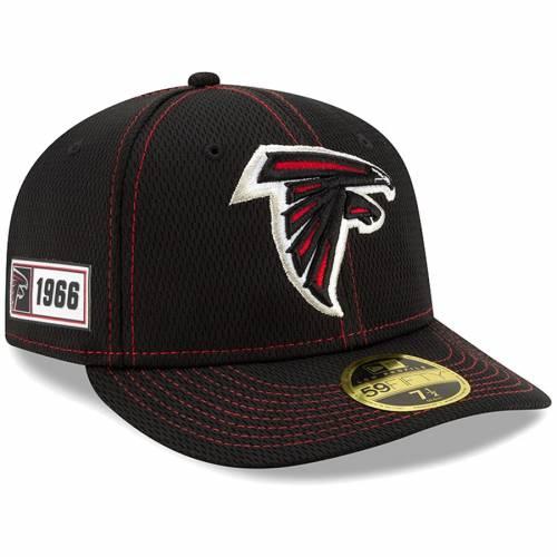 ニューエラ NEW ERA アトランタ ファルコンズ サイドライン 黒 ブラック バッグ キャップ 帽子 メンズキャップ メンズ 【 Atlanta Falcons 2019 Nfl Sideline Road Official Low Profile 59fifty Fitted Hat - Black