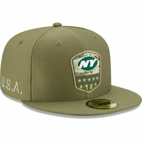 ニューエラ NEW ERA ジェッツ サイドライン オリーブ バッグ キャップ 帽子 メンズキャップ メンズ 【 New York Jets 2019 Salute To Service Sideline 59fifty Fitted Hat - Olive 】 Olive