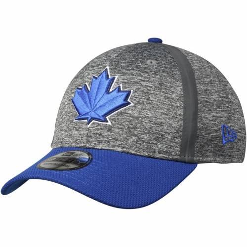 ニューエラ NEW ERA トロント 青 ブルー バッグ キャップ 帽子 メンズキャップ メンズ 【 Toronto Blue Jays Clubhouse 39thirty Flex Hat - Heathered Gray/royal 】 Heathered Gray/royal