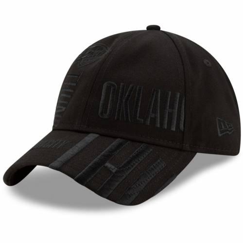 ニューエラ NEW ERA シティ サンダー シリーズ 黒 ブラック バッグ キャップ 帽子 メンズキャップ メンズ 【 Oklahoma City Thunder 2019 Nba Tip-off Series Tonal 9twenty Adjustable Hat - Black 】 Black