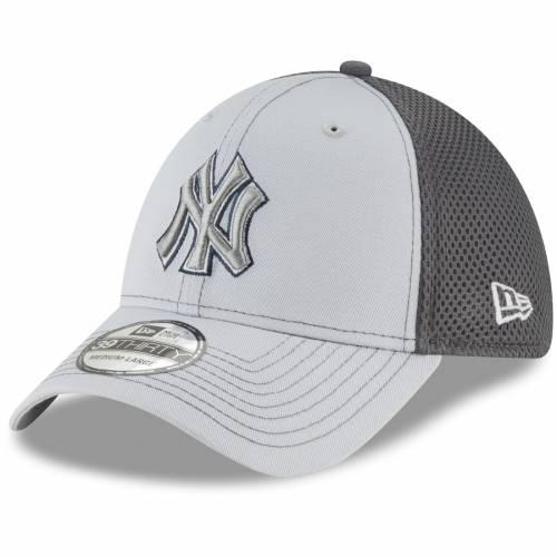 ニューエラ NEW ERA ヤンキース ネオ 灰色 グレー グレイ バッグ キャップ 帽子 メンズキャップ メンズ 【 New York Yankees Grayed Out Neo 39thirty Flex Hat - Gray 】 Gray