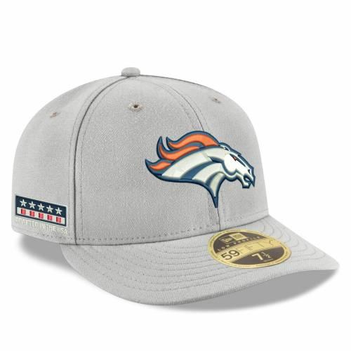 ニューエラ NEW ERA デンバー ブロンコス 灰色 グレー グレイ バッグ キャップ 帽子 メンズキャップ メンズ 【 Denver Broncos Crafted In The Usa Low Profile 59fifty Fitted Hat - Gray 】 Gray