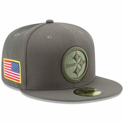 ニューエラ NEW ERA ピッツバーグ スティーラーズ オリーブ バッグ キャップ 帽子 メンズキャップ メンズ 【 Pittsburgh Steelers 2017 Salute To Service 59fifty Fitted Hat - Olive 】 Olive