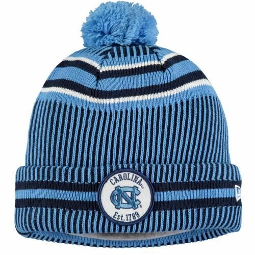 ニューエラ NEW ERA ノース カロライナ サイドライン ニット 青 ブルー バッグ キャップ 帽子 メンズキャップ メンズ 【 North Carolina Tar Heels Sideline Home Cuffed Knit Hat - Carolina Blue 】 Carolina Blue