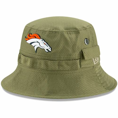 ニューエラ NEW ERA デンバー ブロンコス サイドライン オリーブ バッグ キャップ 帽子 メンズキャップ メンズ 【 Denver Broncos 2019 Salute To Service Sideline Adventure Bucket Hat - Olive 】 Olive