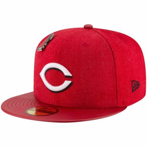 ニューエラ NEW ERA シンシナティ レッズ コレクション 赤 レッド バッグ キャップ 帽子 メンズキャップ メンズ 【 Cincinnati Reds Pin Collection 59fifty Fitted Hat - Red 】 Red