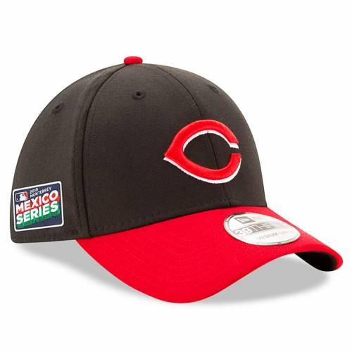 ニューエラ NEW ERA シンシナティ レッズ シリーズ バッグ キャップ 帽子 メンズキャップ メンズ 【 Cincinnati Reds 2019 Mexico Series 39thirty Flex Hat - Black/red 】 Black