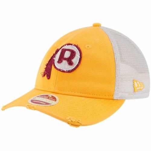 ニューエラ NEW ERA ワシントン レッドスキンズ バッグ キャップ 帽子 メンズキャップ メンズ 【 Washington Redskins Frayed Twill 9twenty Adjustable Hat - Gold/natural 】 Gold/natural