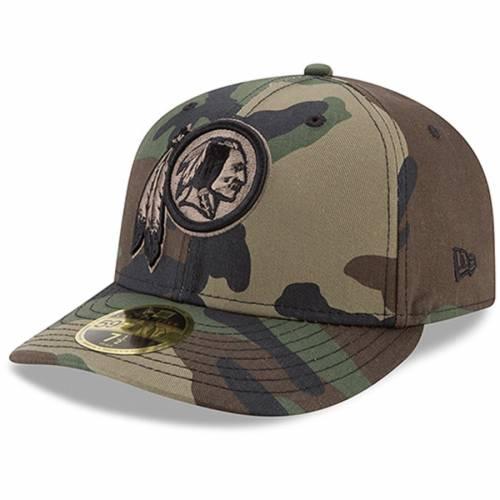 ニューエラ NEW ERA ワシントン レッドスキンズ ウッドランド バッグ キャップ 帽子 メンズキャップ メンズ 【 Washington Redskins Woodland Camo Low Profile 59fifty Fitted Hat 】 Color