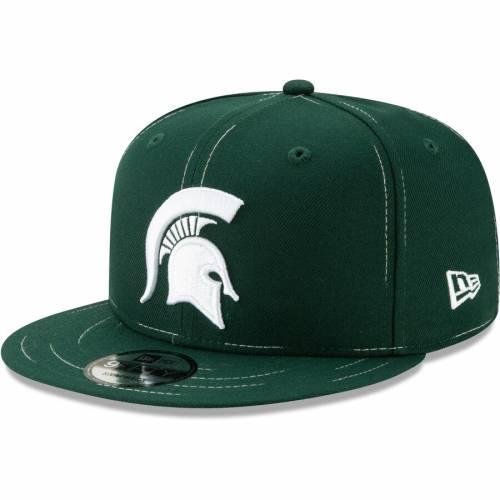 ニューエラ NEW ERA ミシガン スケートボード スナップバック バッグ 緑 グリーン キャップ 帽子 メンズキャップ メンズ 【 Michigan State Spartans Savvy Stitch 9fifty Adjustable Snapback Hat - Green 】 Gree