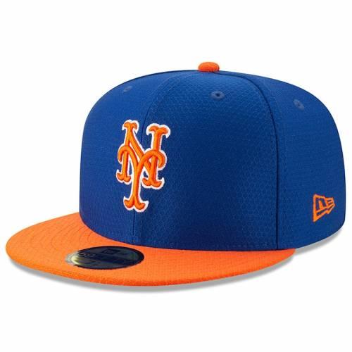 ニューエラ NEW ERA メッツ バッティング プラクティス バッグ キャップ 帽子 メンズキャップ メンズ 【 New York Mets 2019 Batting Practice 59fifty Fitted Hat - Royal/orange 】 Royal/orange