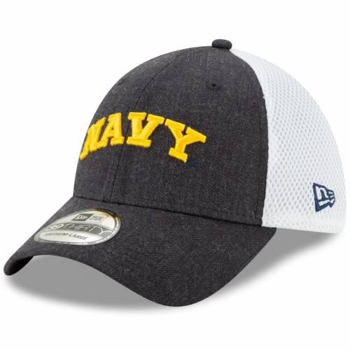 ニューエラ NEW ERA 紺 ネイビー ネオ バッグ キャップ 帽子 メンズキャップ メンズ 【 Navy Midshipmen Front Neo 39thirty Flex Hat - Heathered Navy 】 Heathered Navy