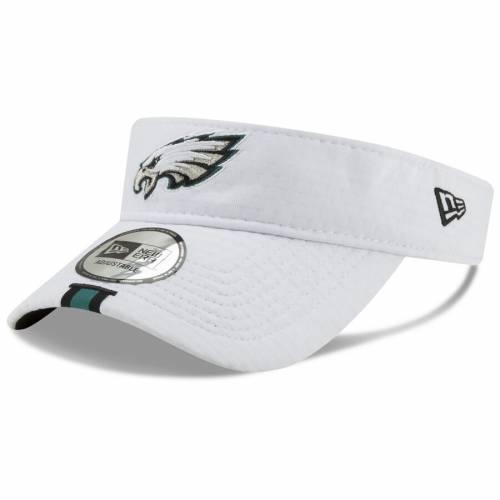 ニューエラ NEW ERA フィラデルフィア イーグルス トレーニング 白 ホワイト バッグ キャップ 帽子 メンズキャップ メンズ 【 Philadelphia Eagles 2019 Nfl Training Camp Official Visor - White 】 White