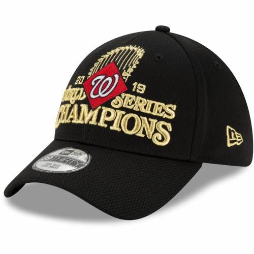 ニューエラ NEW ERA ワシントン ナショナルズ シリーズ 黒 ブラック バッグ キャップ 帽子 メンズキャップ メンズ 【 Washington Nationals 2019 World Series Champions Locker Room 39thirty Flex Hat - Black 】 Bl