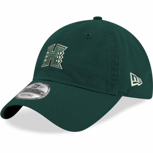 ニューエラ NEW ERA ハワイ ウォリアーズ 緑 グリーン バッグ キャップ 帽子 メンズキャップ メンズ 【 Hawaii Warriors Hustle 9twenty Adjustable Hat - Green 】 Green