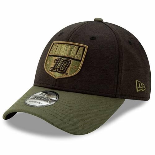 ニューエラ NEW ERA バッグ キャップ 帽子 メンズキャップ メンズ 【 Aric Almirola Military Salutes 9forty Adjustable Hat - Black/olive 】 Black/olive