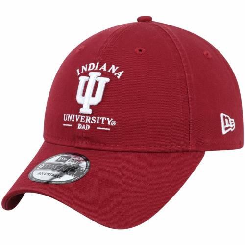 ニューエラ NEW ERA インディアナ バッグ キャップ 帽子 メンズキャップ メンズ 【 Indiana Hoosiers Dad Spirit 9twenty Adjustable Hat - Crimson 】 Crimson