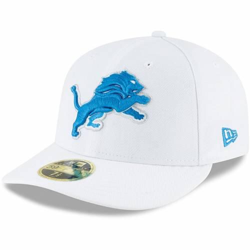 ニューエラ NEW ERA デトロイト ライオンズ 白 ホワイト バッグ キャップ 帽子 メンズキャップ メンズ 【 Detroit Lions Omaha Low Profile 59fifty Fitted Hat - White 】 White
