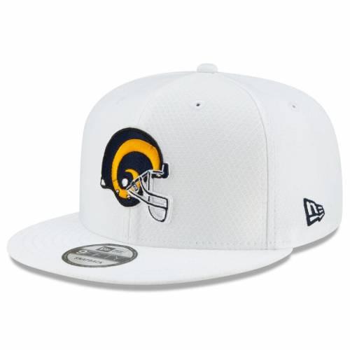 ニューエラ NEW ERA ラムズ サイドライン プラチナム スナップバック バッグ 白 ホワイト キャップ 帽子 メンズキャップ メンズ 【 Los Angeles Rams 2019 Nfl Sideline Platinum 9fifty Snapback Adjustable Hat