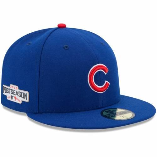 ニューエラ NEW ERA シカゴ カブス バッグ キャップ 帽子 メンズキャップ メンズ 【 Chicago Cubs 2016 Postseason Side Patch 59fifty Fitted Hat - Royal 】 Royal