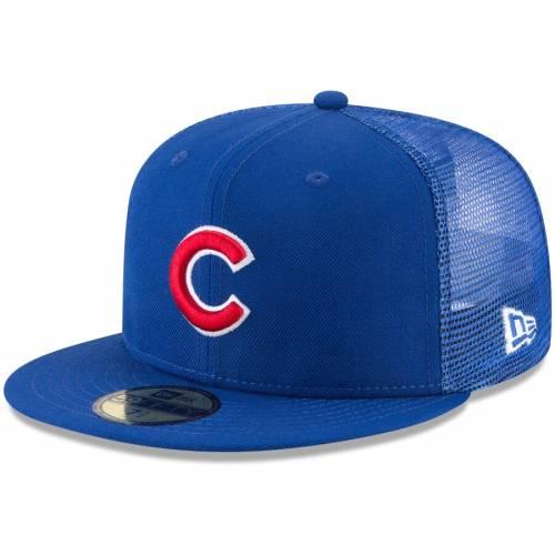 ニューエラ NEW ERA シカゴ カブス バッグ キャップ 帽子 メンズキャップ メンズ 【 Chicago Cubs On-field Replica Mesh Back 59fifty Fitted Hat - Royal 】 Royal