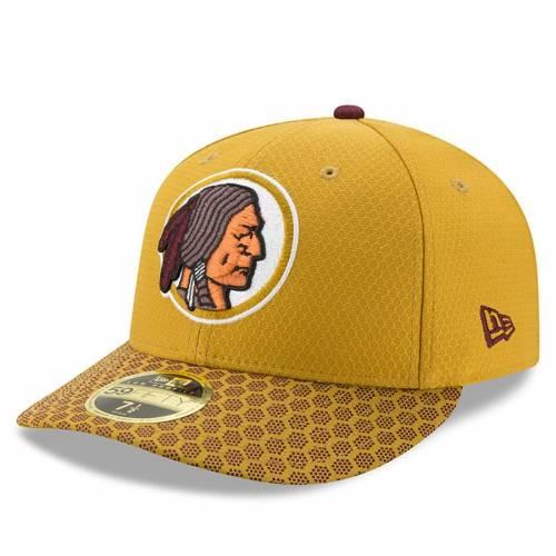 ニューエラ NEW ERA ワシントン レッドスキンズ サイドライン バッグ キャップ 帽子 メンズキャップ メンズ 【 Washington Redskins 2017 Sideline Historic Low Profile 59fifty Fitted Hat - Gold 】 Gold