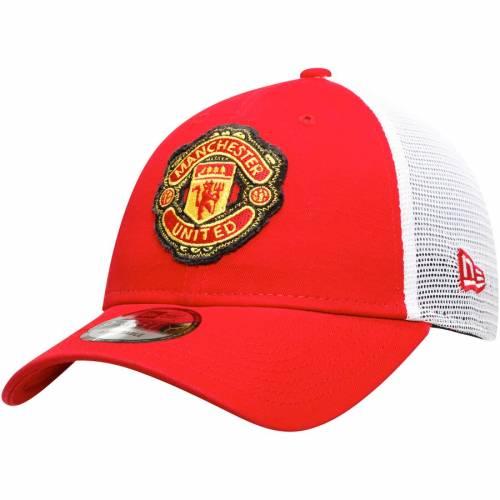 ニューエラ NEW ERA チーム トラッカー スナップバック バッグ 赤 レッド キャップ 帽子 メンズキャップ メンズ 【 Manchester United Team 9forty Adjustable Trucker Snapback Hat - Red 】 Red