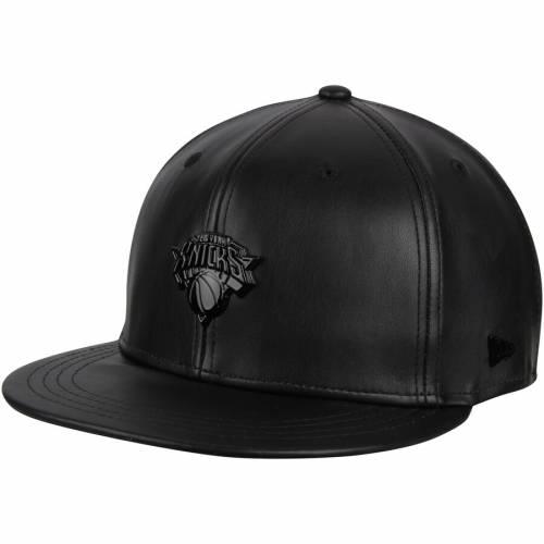 ニューエラ NEW ERA ニックス 黒 ブラック シリーズ メタル スナップバック バッグ キャップ 帽子 メンズキャップ メンズ 【 New York Knicks Black Label Series Glossy Metal 9fifty Snapback Adjustable Hat - Bl