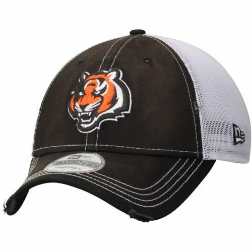ニューエラ NEW ERA シンシナティ ベンガルズ バッグ キャップ 帽子 メンズキャップ メンズ 【 Cincinnati Bengals Prime 9twenty Adjustable Hat - Black/white 】 Black/white