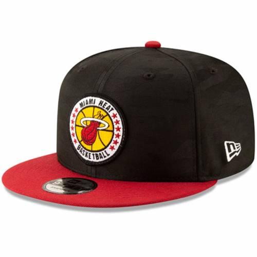 ニューエラ NEW ERA マイアミ ヒート シリーズ バッグ キャップ 帽子 メンズキャップ メンズ 【 Miami Heat 2018 Tip-off Series Two-tone 9fifty Adjustable Hat - Black/red 】 Black/red