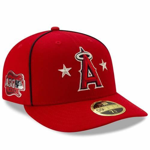 ニューエラ NEW ERA エンジェルス ゲーム 赤 レッド バッグ キャップ 帽子 メンズキャップ メンズ 【 Los Angeles Angels 2019 Mlb All-star Game On-field Low Profile 59fifty Fitted Hat - Red 】 Red