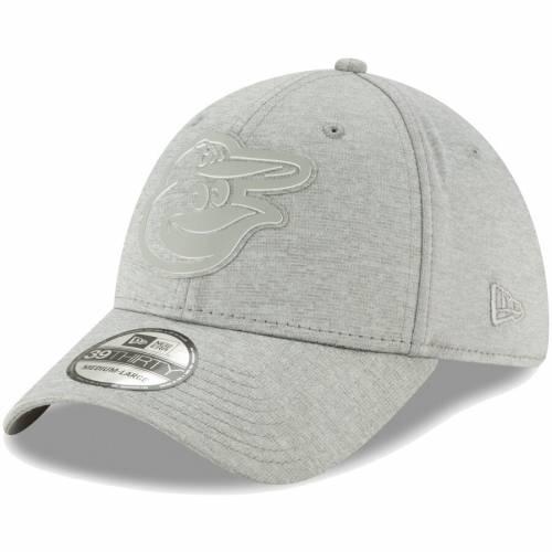 ニューエラ NEW ERA ボルティモア オリオールズ ロゴ 灰色 グレー グレイ バッグ キャップ 帽子 メンズキャップ メンズ 【 Baltimore Orioles Logo Shade 39thirty Flex Hat - Gray 】 Gray