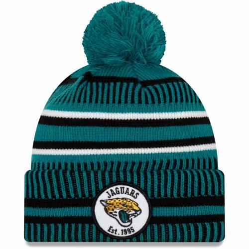 ニューエラ NEW ERA ジャクソンビル ジャガース サイドライン リベンジ ニット バッグ キャップ 帽子 メンズキャップ メンズ 【 Jacksonville Jaguars 2019 Nfl Sideline Home Reverse Sport Knit Hat - Teal/blac