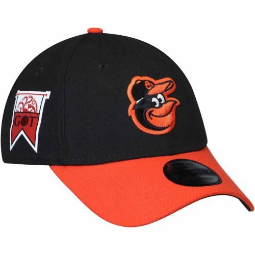 ニューエラ NEW ERA ボルティモア オリオールズ ゲーム バッグ キャップ 帽子 メンズキャップ メンズ 【 Baltimore Orioles Game Of Thrones 9forty Adjustable Hat - Black/orange 】 Black/orange