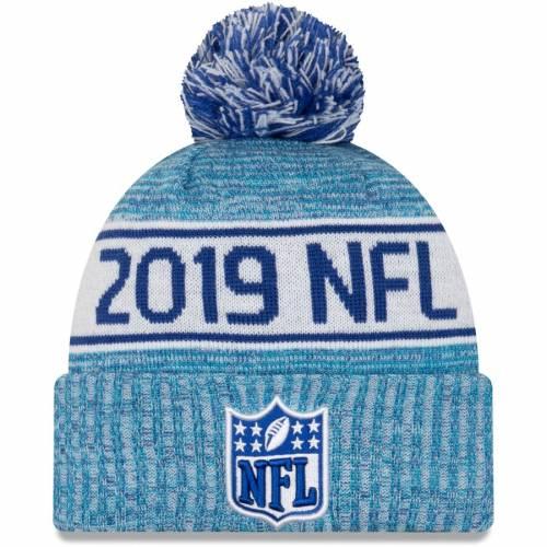 ニューエラ NEW ERA ニット 青 ブルー バッグ キャップ 帽子 メンズキャップ メンズ 【 Nfl 2019 London Games Staff Cuffed Knit Hat With Pom - Blue 】 Blue