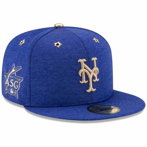 ニューエラ NEW ERA メッツ ゲーム バッグ キャップ 帽子 メンズキャップ メンズ 【 New York Mets 2017 Mlb All-star Game Side Patch 59fifty Fitted Hat - Heathered Royal 】 Heathered Royal