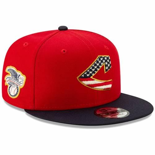 ニューエラ NEW ERA クリーブランド インディアンズ バッグ キャップ 帽子 メンズキャップ メンズ 【 Cleveland Indians 2019 Stars And Stripes 4th Of July 9fifty Adjustable Hat - Red/navy 】 Red/navy
