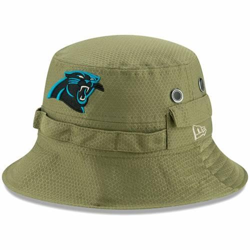ニューエラ NEW ERA カロライナ パンサーズ サイドライン オリーブ バッグ キャップ 帽子 メンズキャップ メンズ 【 Carolina Panthers 2019 Salute To Service Sideline Adventure Bucket Hat - Olive 】 Olive