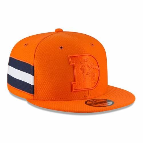 ニューエラ NEW ERA デンバー ブロンコス サイドライン ラッシュ スナップバック バッグ 橙 オレンジ キャップ 帽子 メンズキャップ メンズ 【 Denver Broncos 2018 Nfl Sideline Color Rush Official 9fift