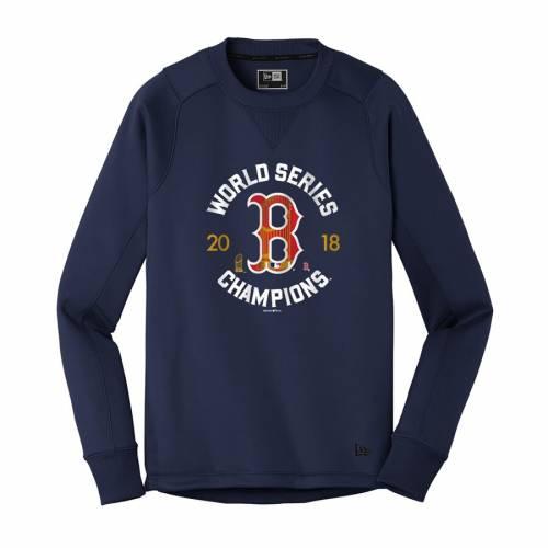 ニューエラ NEW ERA ボストン 赤 レッド シリーズ 紺 ネイビー メンズファッション トップス スウェット トレーナー メンズ 【 Boston Red Sox 2018 World Series Champions Pullover Crewneck Sweatshirt - Navy