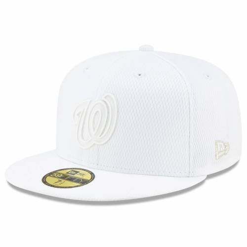 ニューエラ NEW ERA ワシントン ナショナルズ 白 ホワイト バッグ キャップ 帽子 メンズキャップ メンズ 【 Washington Nationals 2019 Players Weekend On-field 59fifty Fitted Hat - White 】 White