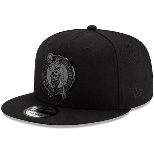ニューエラ NEW ERA ボストン セルティックス テクスチャー スナップバック バッグ 黒 ブラック キャップ 帽子 メンズキャップ メンズ 【 Boston Celtics Texture 9fifty Snapback Hat - Black 】 Black