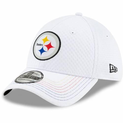 ニューエラ NEW ERA ピッツバーグ スティーラーズ 白 ホワイト バッグ キャップ 帽子 メンズキャップ メンズ 【 Juju Smith-schuster Pittsburgh Steelers Design 39thirty Flex Hat - White 】 White